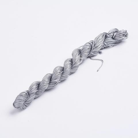 Шнур для плетения (нейлон) 1.0 мм серебристо-серый