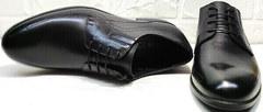 Модные черные туфли со шнурками Ikoc 3416-1 Black Leather.