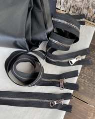 Молния металлическая никель №3, 60см, разъемная, черный