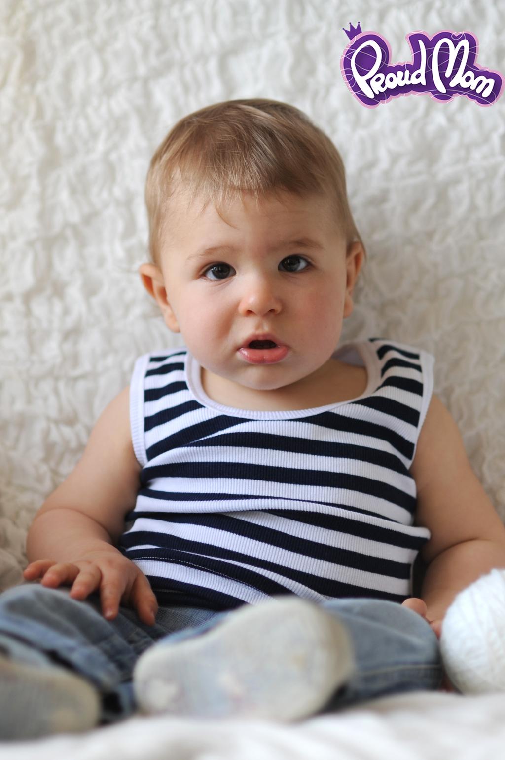 Детская маечка Легкость бытия синяя полоска - Фото 24