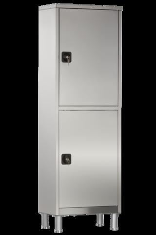 Шкаф медицинский одностворчатый с ригельным замком МСК - 5646.01-11 - фото