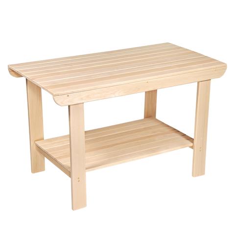 Стол с полкой разборный 120х73х63 см, шлифованный