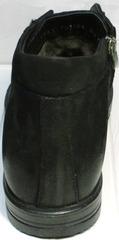 Зимние ботинки без каблука мужские Luciano Bellini 71783 Black.