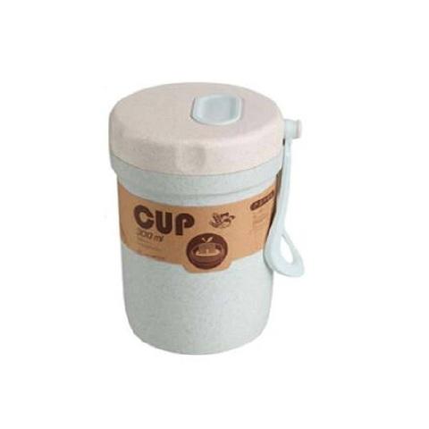 Ланчбокс из пшеничного волокна для супа, голубой