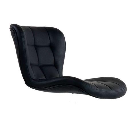 Сиденье для барного стула Porsche/Порше, экокожа, черное (сидение)