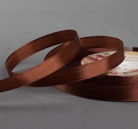 Лента атласная,цвет коричневый,10мм*23±1м