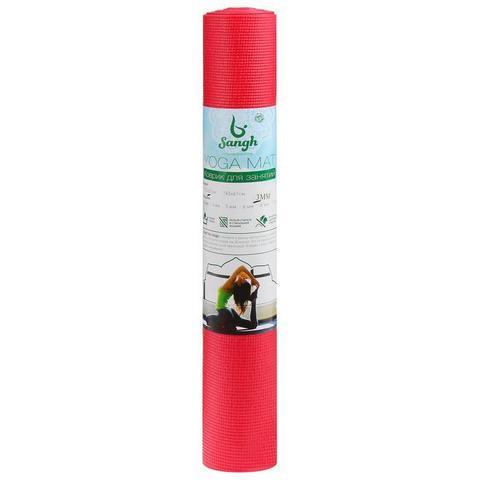 Коврик для йоги Sangh Red 173х61х0,3 см