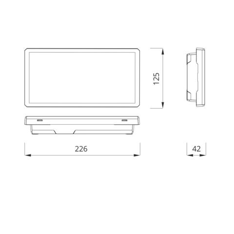 Размеры светового эвакуационного указателя EXIT-S