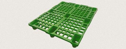 Поддон пластиковый перфорированный 1200x1000x150 мм. Цвет: Зеленый