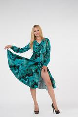 Платье из полиэстера ниже колена оптом