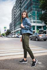 Джинсовая куртка синяя оверсайз интернет магазин