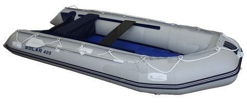 Надувная ПВХ-лодка Солар Максима - 400 МК (светло-серый)