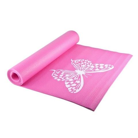 Коврик для йоги и фитнеса YL-Sports 173*61*0,4см BB8301 с принтом, розовый (к 36042)
