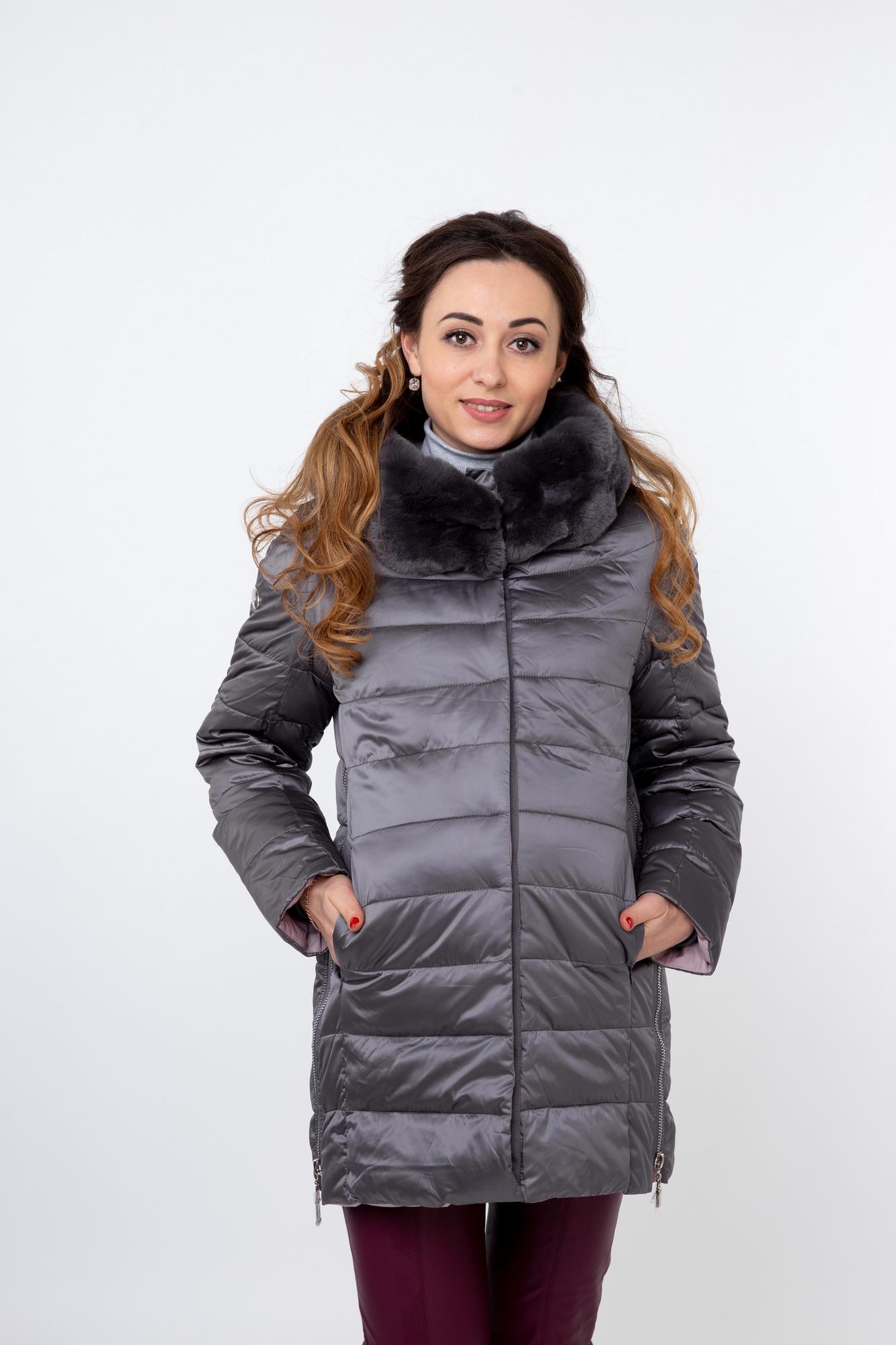 Куртка для беременных 09847 серо-розовый