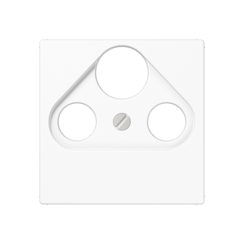 Розетка TV SAT FM универсальная, оконечная, диапазон частот от 4 до 2400 MГц. Цвет Белый. JUNG A. S4100+A561PLSATWW