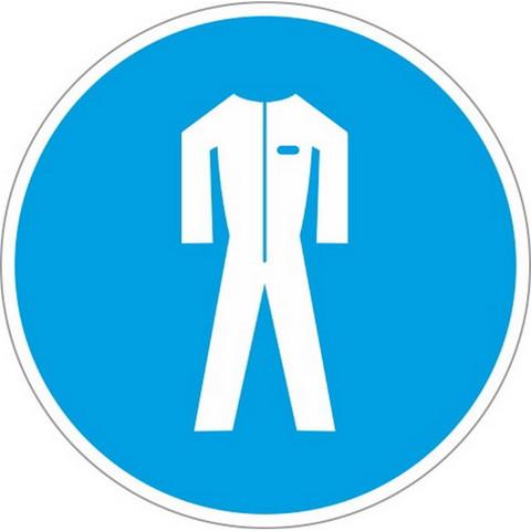 M07 Работать в защитной одежде (плёнка ПВХ, 200х200)