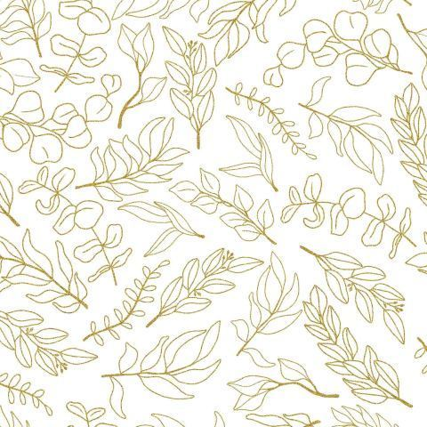 Золотые листья не белом фоне.