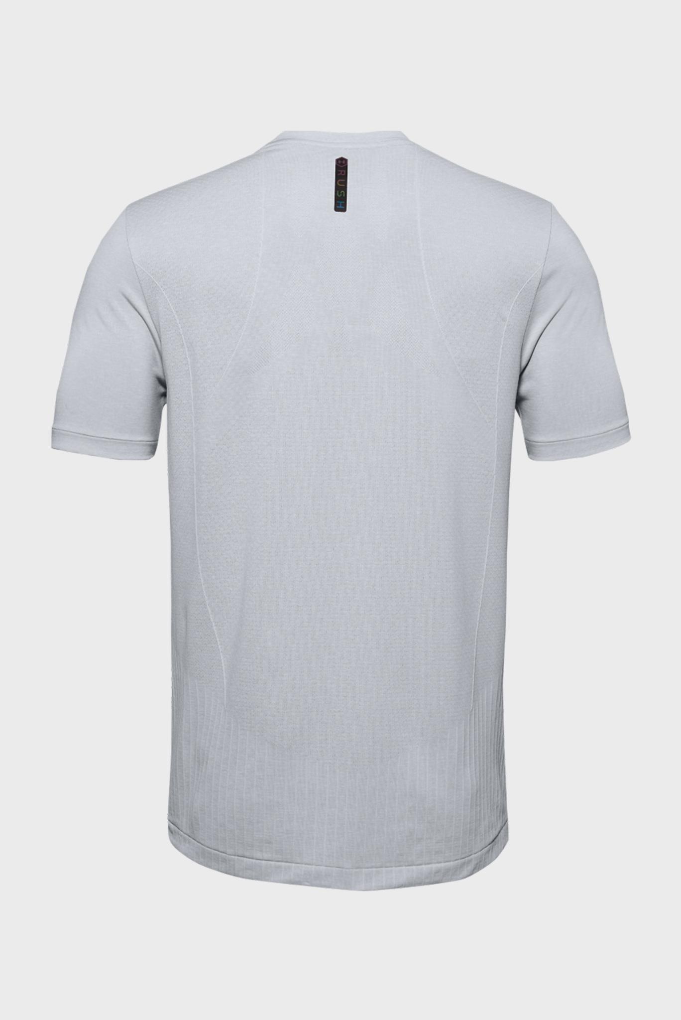 Мужская серая спортивная футболка Rush HG Seamless Fitted SS Under Armour