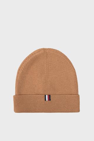 Мужская бежевая шапка Tommy Hilfiger