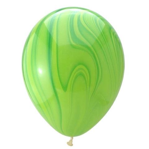 Шары супер агат, зеленый, 30 см