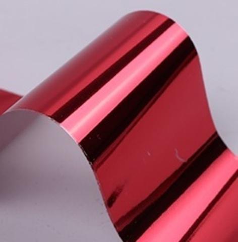 Фольга для дизайна ногтей (красная)