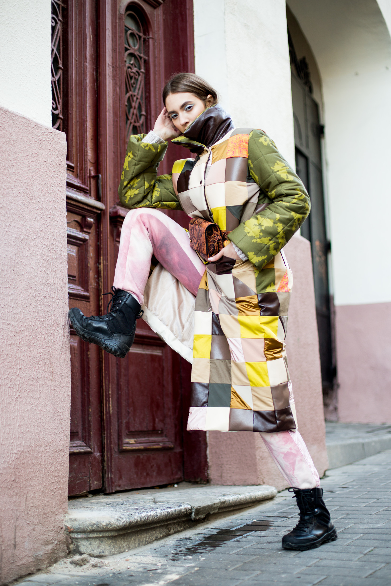 Пальто в стиле ПЭЧВОРК