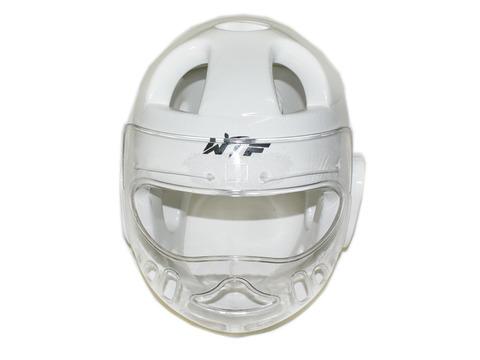Шлем для тхеквондо с маской. Цвет: белый. Размер XL. ZTT-001XL-Б