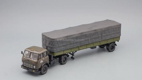 MAZ-504V with semitrailer 9380 (1/2) khaki 1:43 Nash Avtoprom