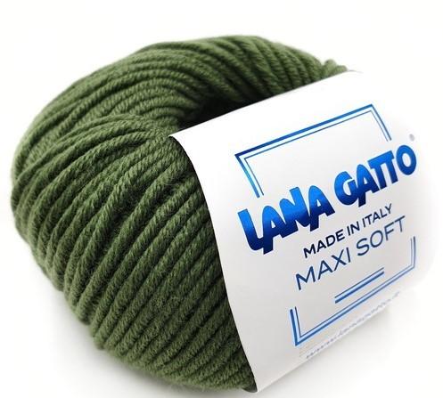 Пряжа Lana Gatto Maxi Soft 13278 хвоя