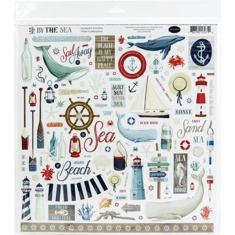 Набор стикеров By The Sea Cardstock Stickers -Elements 30х30см
