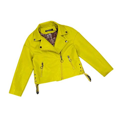 Куртка экокожа девочке (5-9) 210205-J7115