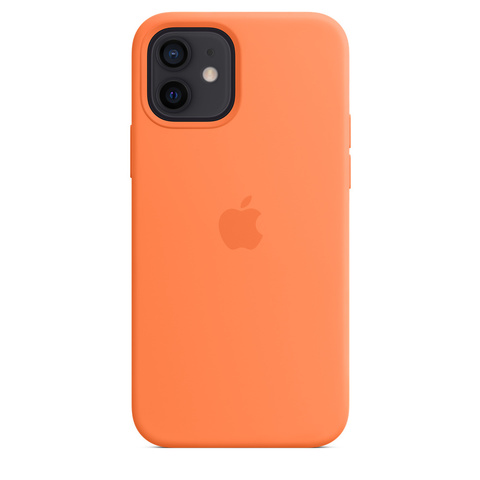 Apple Silicone Case на iPhone 12/12Pro (Кумкват)