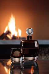 Декантер Whisky Club, 1,05 л, коричневый, фото 2