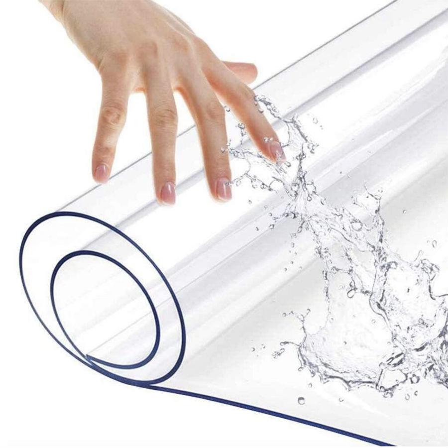 Полезные вещи ПВХ пленка для подоконника Гибкое стекло, 200х60 см prozrachnaya-skatert-na-stol.jpg