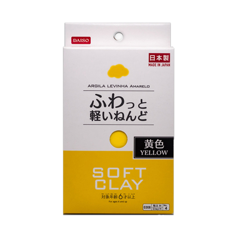 Глина для слаймов Daiso Soft clay (желтая, 80 г)