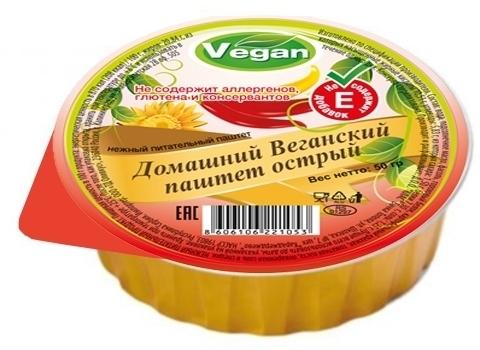 Паштет овощной веганский острый, Оливкус, 50 г