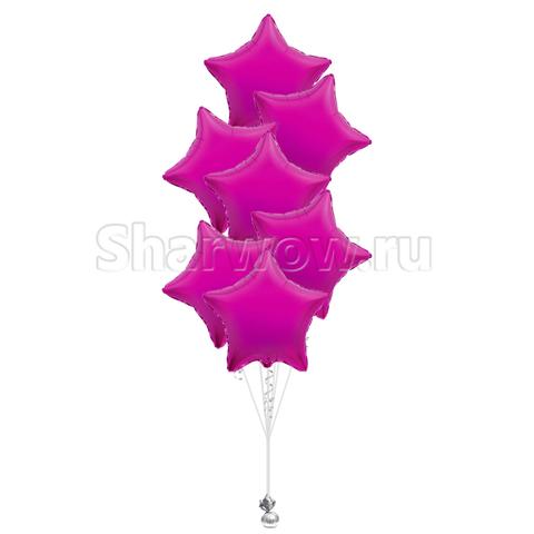 Букет из шаров звезд лиловый