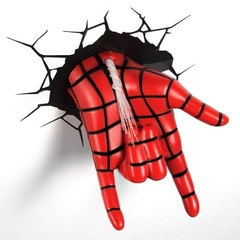 Мстители 3D светильник Человек паук рука