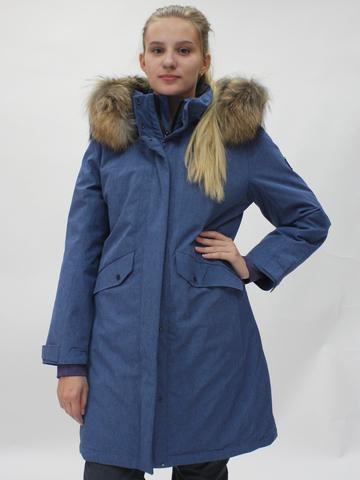 Женская горнолыжная куртка Snow Headquarter джинсового цвета