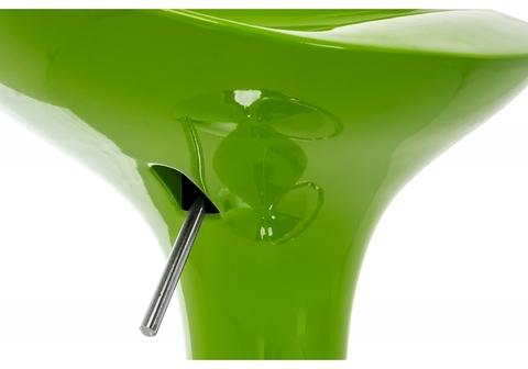Барный стул Orion зеленый 40*40*75 - 96,5 Зеленый пластик /Хромированный металл каркас
