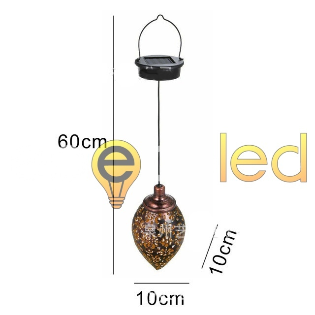 Винтажный светильник EPECOLED подвесной (на солнечной батарее)