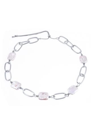 Ожерелье Aurora Metallo Ovale серебристое