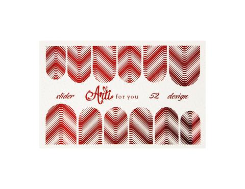 Фольга для дизайна ногтей цвет красный 52 купить за 120руб