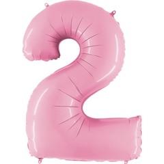 Г Цифра, 2, Розовый (Pink), 40''/102 см, 1 шт.