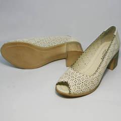 Летние туфли под джинсы Sturdy Shoes 87-43 24 Lighte Beige.