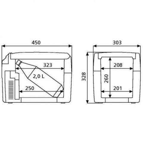 Автохолодильник Dometic TropiCool TC-14FL, 14л, охл./нагр., пит. (12/24/220V)
