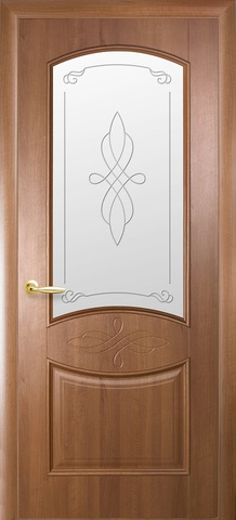 Дверь Донна ДО (золотая ольха, остекленная ПВХ), фабрика Новый Стиль