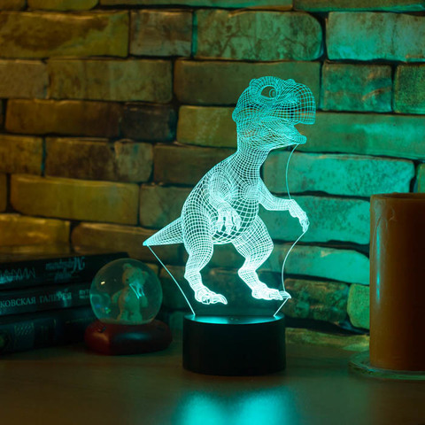3D ночник Тираннозавр Рекс