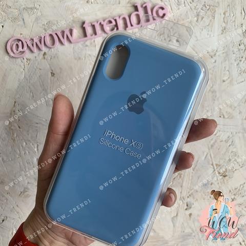 Чехол iPhone XS Max Silicone Case /cornflower/ синие сумерки 1:1