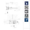 Встраиваемый смеситель для раковины TZAR 342001NC никель - фото №2